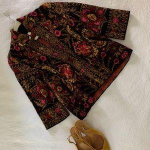 Anthropologie Floral Cardigan/Blazer